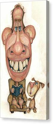 Bobblehead No 42 Canvas Print by Edward Ruth