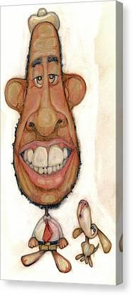 Bobblehead No 47 Canvas Print by Edward Ruth