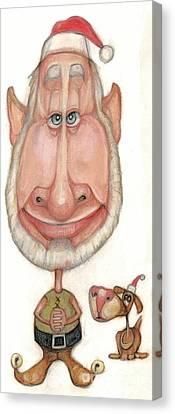 Bobblehead No 60 Canvas Print by Edward Ruth
