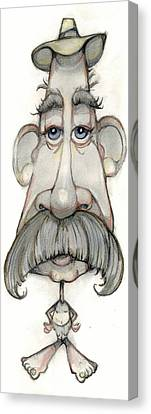 Bobblehead No 65 Canvas Print by Edward Ruth