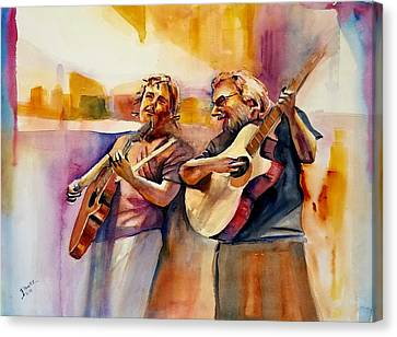 Bobby And Jer 'coustic Canvas Print