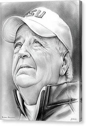Bobby Bowden Canvas Print by Greg Joens