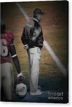 Bobby Bowden Head Coach Fsu Canvas Print by Paul Wilford