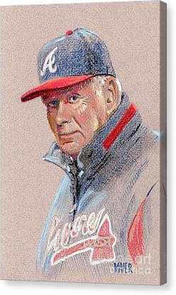 Bobby Cox Canvas Print by Donald Maier