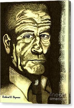 Bobby D. Canvas Print by Richard Heyman