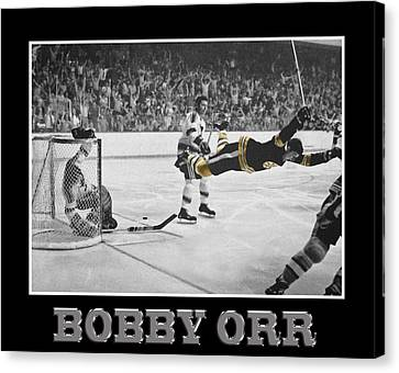 Bobby Orr 5 Canvas Print by Andrew Fare