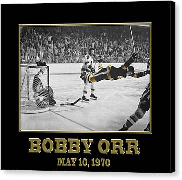 Bobby Orr 6 Canvas Print by Andrew Fare