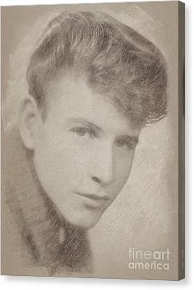 Noir Canvas Print - Bobby Rydell, Musician by Frank Falcon