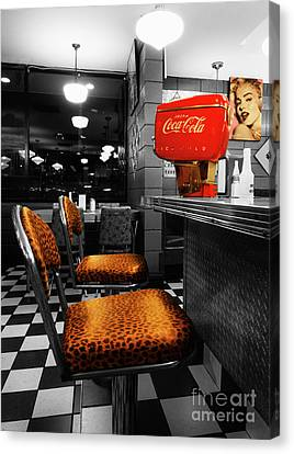 Bobby Sox 50's Diner 2 Canvas Print by Bob Christopher