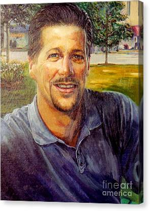 Canvas Print featuring the painting Bobby by Stan Esson