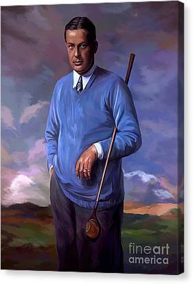 Bobbyjones-openchampion1926 Reproduction Canvas Print by Tim Gilliland