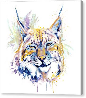 Bobcat Head Canvas Print by Marian Voicu