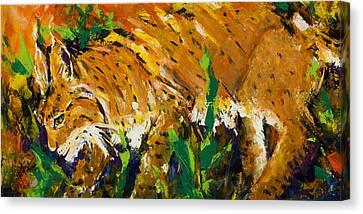 Bobcat Canvas Print by Mary DuCharme