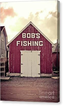 Fishing Shack Canvas Print - Bob's Fishing North Rustico by Edward Fielding