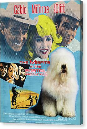 Bobtail -  Old English Sheepdog Art Canvas Print - The Misfits Movie Poster Canvas Print
