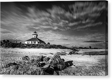 Boca Grande Florida Bw Canvas Print by Marvin Spates