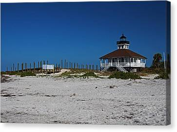 Canvas Print featuring the photograph Boca Grande Lighthouse Ix by Michiale Schneider