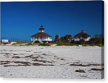 Canvas Print featuring the photograph Boca Grande Lighthouse X by Michiale Schneider