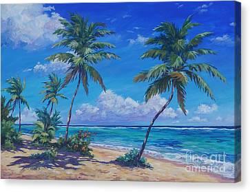 Bodden Town Palms Canvas Print by John Clark