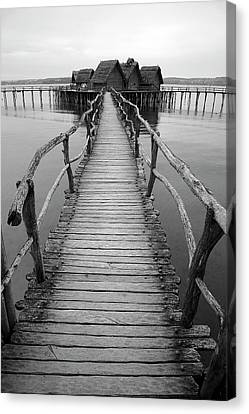 Bodensee Walkway B And W Canvas Print
