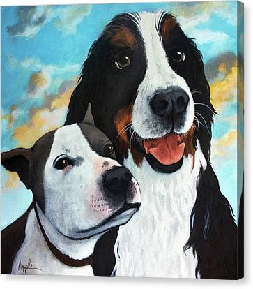 Canvas Print - Bodhi And Lily  Pet Portrait by Linda Apple