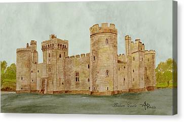 Bodiam Castle Canvas Print by Angeles M Pomata