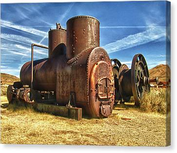 Old Boiler Bodie State Park Canvas Print by James Hammond