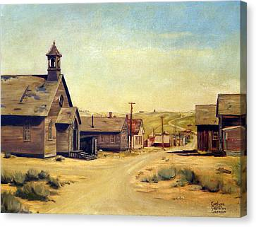 Bodie California Canvas Print by Evelyne Boynton Grierson