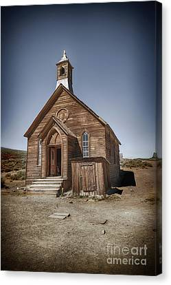 Canvas Print featuring the photograph Bodie Church by Jim  Hatch