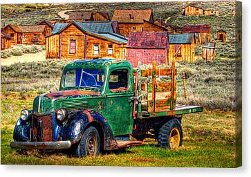 Bodie Ghost Town Green Truck Canvas Print by Scott McGuire