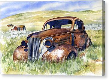 Rusted Cars Canvas Print - Bodie Hot Rod by Mark Jennings