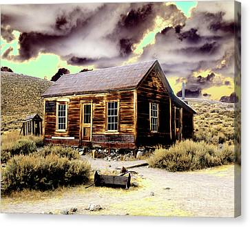 Canvas Print featuring the photograph Bodie House by Jim and Emily Bush