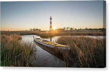 Bodie Island Kayak Canvas Print by Michael Donahue