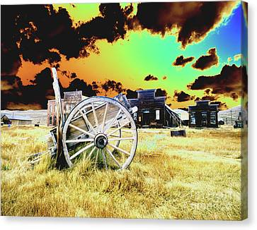 Canvas Print featuring the photograph Bodie Wagon by Jim and Emily Bush