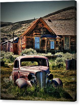 Abandoned Cars Canvas Print - Bodies Finest 1 by Chris Brannen