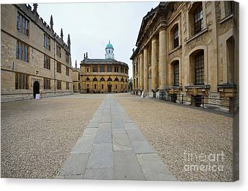 Library Canvas Print - Bodleian Library by Nichola Denny