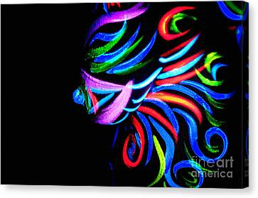 Canvas Print featuring the painting Body Art Breast by Tbone Oliver