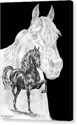 Body Mind And Spirit - Morgan Horse Print  Canvas Print by Kelli Swan