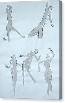 Body Sketches Canvas Print by M Valeriano