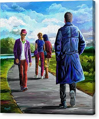 Bodyguard Canvas Print by Anthony Mwangi