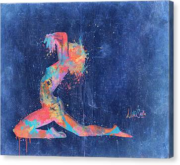 Erotic Dancer Canvas Print - Bodyscape In D Minor - Music Of The Body by Nikki Marie Smith