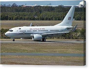 Boeing 737-7dt Canvas Print by Tim Beach