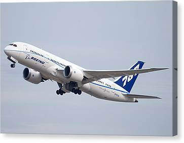 Boeing 787-8 N787za Mesa Gateway Airport November 11 2011 Canvas Print by Brian Lockett
