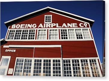 Boeing Airplane Hanger Number One Canvas Print by David Lee Thompson