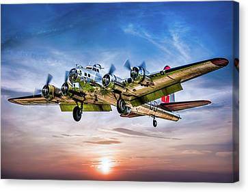 Canvas Print featuring the photograph Boeing B17g Flying Fortress Yankee Lady by Chris Lord