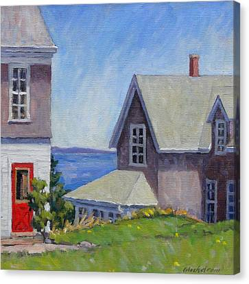 Bogdanov House Monhegan Canvas Print