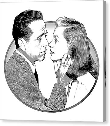 Bogie And Bacall Canvas Print by Greg Joens