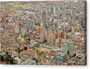 Bogota City Center Canvas Print by Ixefra