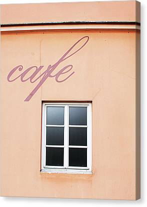 Bohemian Cafe- By Linda Woods Canvas Print by Linda Woods