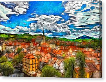 Bohemian Village 2 Canvas Print by Jean-Marc Lacombe